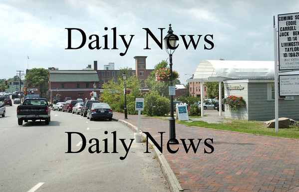 Newburyport: <br /> View today looking west from near the Firehouse Center on Merrimac Street, with visitor's center on right.<br /> Photo by Bryan Eaton/Newburyport Daily News. Wednesday, August 8, 2007