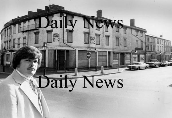 Newburyport: Jack Bradshaw in Market Square Sept 1976.<br /> Photo by Urban Renewal/Newburyport Daily News. Tuesday, May 8, 2007