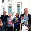JIM VAIKNORAS/Staff photo <br /> Poets Alfred Nicol, Rhina Espaillat, Toni Treadway, and David Davis will be celebrating poet Robert Frost.