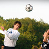 BRYAN EATON/Staff photo. Triton's Ross Lojek heads the ball in his team's direction.