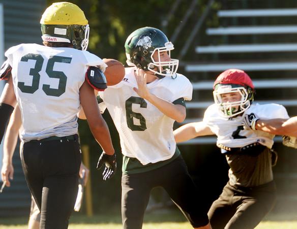 BRYAN EATON/Staff Photo. Pentucket quarterback Finn Graham.