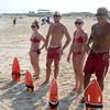 JIM VAIKNORAS/Staff photo Salisbury life guards Julia Feole, Kris Reslow, Cheslea Foley and Derrick Feole on the beach Thursday afternoon.