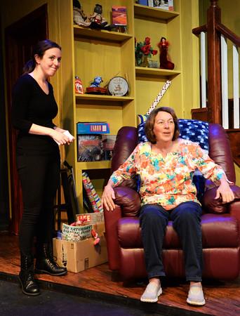 BRYAN EATON/Staff Photo. Rachel Sacks, left, as Lisa Kron and Maureen Daley as her mother, Ann.