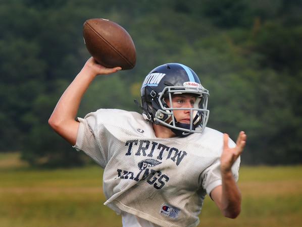 BRYAN EATON/Staff Photo. Triton quarterback Lewi L'Heureux.