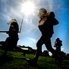 Byfield: The Governr's Academy's lineman job in the late afternoon sun at practice friday. Jim Vaiknoras/staff photo