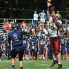 Lynnfield: Newburyport's Dillon Guthro knocks down a pass at Lynnfield Saturday. jim Vaiknoras/staff photo