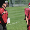 Byfield: The Governr's Academy football coach Jim O'Leary at practice friday. Jim Vaiknoras/staff photo