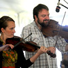 Newbury: Katie McNally and Ryan McKasson perform at the American Music and Harvest Festival at the Spencer Peirce-Little Farm in Newbury Sunday. Jim Vaiknoras/staff photo