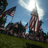 Newburyport: Flags fill the Bartlet Mall for the annual Field of Honor. Jim Vaiknoras/staff photo