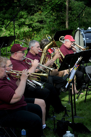 Byfield: The Merrimack Valley Concert Band performs  at Byfield Days Saturday. Jim Vaiknoras/staff photo