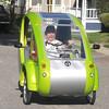 Newburyport: Conrad Willeman drives his Elf. Jim Vaiknoras/staff photo