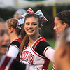 Amesbury: Amesbury Cheerleader Isabelle Prussman is all smiles before the Indians game against Triton Friday night at Landry Stadium in Amesbury. Jim Vaiknoras/staff photo