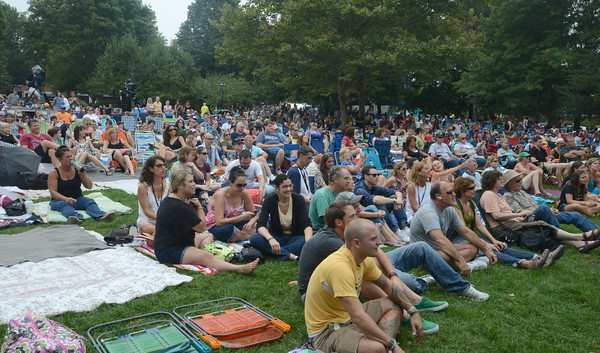 Newburyport: The crowd covers the grass at the 12th annual Riverfront Festival in Market Landing Park in Newburyport Saturday. Five bands performed at the daylong event put on by 92.5 The River. Jim Vaiknoras/staff photo