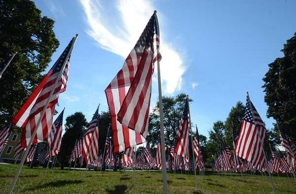 Newburyport: Flags fill the Bartlet Mall for the annual Field of Hono. Jim Vaiknoras/staff photo