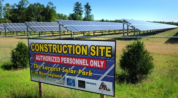 Salisbury: The solar park on Rabbit Road in Salisbury. Bryan Eaton/Staff Photo