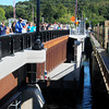 Groveland: People look down at the old Bates Bridge from the new at the dedication of the new structure between Groveland and Haverhill. Bryan Eaton/Staff Photo