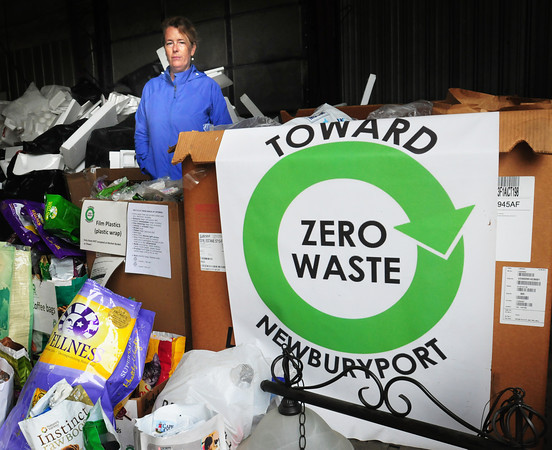 Newburyport: Newburyport recycling director Molly Ettenborough at the Crow Lane Transfer Station. Bryan Eaton/Staff Photo