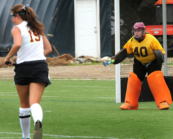 Amesbury: Newburyport field hockey goalie. Bryan Eaton/Staff Photo
