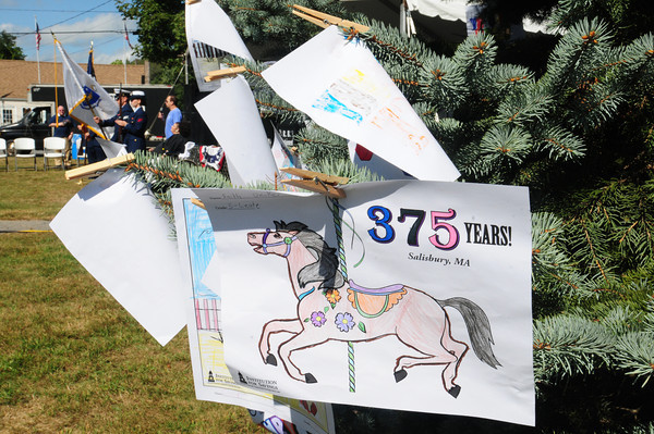 Salisbury: Students from Salisbury Elementary School colored an image of the old Flying Horses Carousel at Salisbury Beach. Bryan Eaton/Staff Photo
