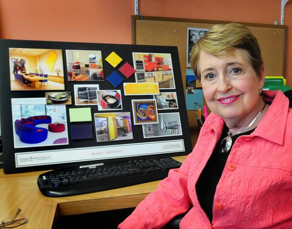 Newburyport: Sharon Currier, president of Currier and Associates is an interior designer for senior centers, Alzheimer hospitals, etc. Bryan Eaton/Staff Photo