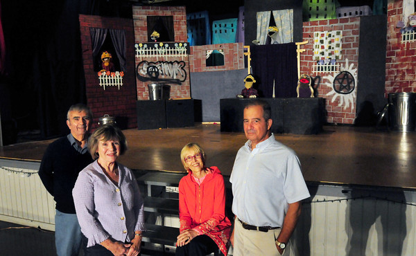 Amesbury: The Georgetown Theatre Workshop has found a new home at the Sparhawk School's high school campus in Amesbury in space that housed the Amesbury Playhouse. From left, workshop members Lou Dispenza, vice president; Ann  Jaroncyk,\; Sparhawk headmaster Louise Stilpen and workshop president Chris Dollas. Bryan Eaton/Staff Photo