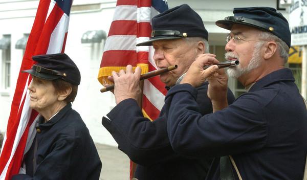 Salisbury: The Bostonia Allarum Fife and Drum Corp perform at Salisbury 375th Anniversary celebration. Bryan Eaton/Staff Photo