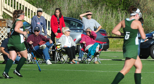 Amesbury: Field hockey fans get sunlight while watching Amesbury host Pentucket at the Amesbury Sports Park on Tuesday. Bryan Eaton/Staff Photo