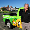 Newburyport: Joe Gliottone of Doody Calls pet waste removal. Bryan Eaton/Staff Photo