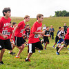 "Amesbury: Boys middle school runners compete in one of the races at the ""Miles For Mike"" Cross-Country Festival at Woodsom Farm in Amesbury, renamed for Amesbury High cross country coach Mike Farmer who passed away this year. Bryan Eaton/Staff Photo"