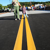 Groveland: Christine Havens and her grandson, Oliver Havens, 3, head back to Haverhill where they live after attending the opening dedication of the new Bates Bridge where traffic will head over today. Bryan Eaton/Staff Photo