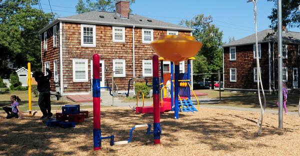 BRYAN EATON/ Staff Photo. The new playground at Kelleher Park.