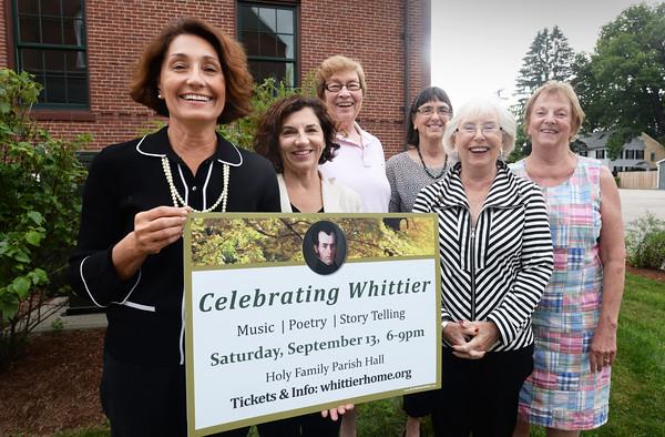 BRYAN EATON/ Staff Photo. Celebrating Whitter committee members from left, Mary Williamson, Sarah Gnerre, Chris Bryant, Nan Becker, Rita Mullis and Pamela Fenner.