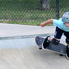 JIM VAIKNORAS/staff photo Lucas Gunther , 9, of Swampscott gets horizontal at the Newburyport skate park Monday afternoon.