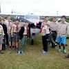 JIM VAIKNORAS/staff photo  Newburyport Troop 21 Boy Scouts visited the Plum Island airfield Saturday.