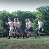 BRYAN EATON/Staff photo. The Newburyport High boys cross country team  head out on a run.