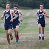 BRYAN EATON/Staff photo. First finishers for Hamilton-Wenham, from left, Jack Gourdeau, Daniel Alara and Griffin Marshall.