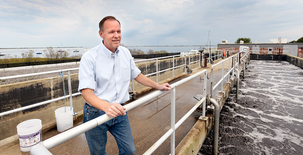 BRYAN EATON/Staff photo. Chris Pratt, new chief operater of the Newburyport Wastewater Plant.