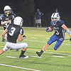JIM VAIKNORAS/Staff photo  Georgetown's Camden Barnard makes a move on a run against Matignon at Georgetown Friday night.