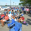 JIM VAIKNORAS/Staff photo People fill the boardwalk Saturday at the annual River Front Festival in Market Landing Park in Newburypoprt Saturday.