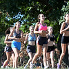 BRYAN EATON/Staff photo. The Newburyport High girls cross country team  on a practice run.