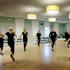 "BRYAN EATON/Staff photo. Jackie Casey leads dancers in the ""Encore Adult Dance Program"" at the Newburyport Senior Center in a new beginner's class. The hour and a half lessons combine tap and ballet and meet every Tuesday morning."