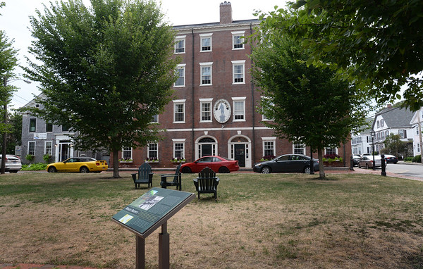 BRYAN EATON/Staff photo. The Garrison Inn on Brown Square as it is now after the square underwent renovations in 2010. All the trees were removed, except for a large cherry tree, and replaced with new ones.