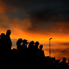 JIM VAIKNORAS/Staff photo Footall fans watch Newburyport's game against Lynnfield Friday night at World War Memorial Stadium Friday night under a a beautiful September Sky.