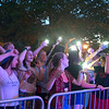 "JIM VAIKNORAS/Staff photo Fans wave their phones as they dance and sway to the Paul McCartney and Wing classic ""Maybe I'm Amazed"" being performed by Beatlejuice at Market Landing Park in Newburyport Thursday night."
