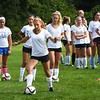 BRYAN EATON/Staff photo. Newburyport girls soccer tryouts at Fuller Field in Newburyport.