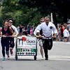 JIM VAIKNORAS/Staff photo The Dojo of Salisbury compete in the Lions Club Bed Race on Federal Street in Newburyport Thursday night.