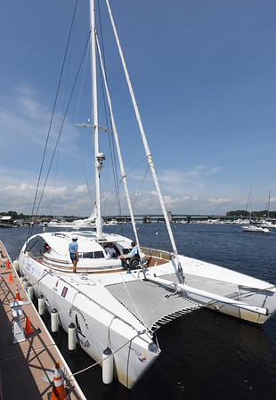 BRYAN EATON/Staff photo. The Impossible Dream docked in Newburyport Harbor.