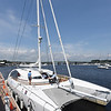 BRYAN EATON/Staff photo. The Impossible Dream docked in Newburyport Harbor.