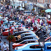 "BRYAN EATON/Staff photo. The crowd is always guaranteed to be a big one at the ""Cruisin' the '50's"" car show in downtown Newburyport on Thursday night."
