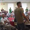 BRYAN EATON/Staff photo. U.S. Army staff sergeant (Ret.) Zeke Crozier speaks at Yankee Homecoming Veteran Luncheon.